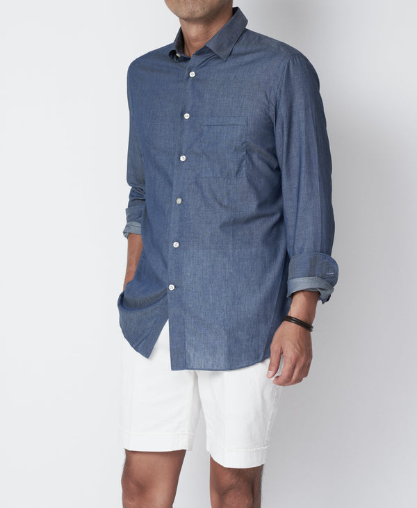 TM-3650 / Chambray Regular Shirt