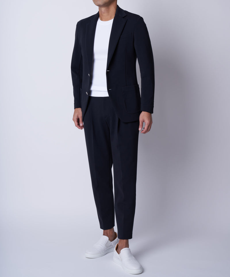 TM-4677/ Dry Cotton Stretch Cardboard Tailored Jacket