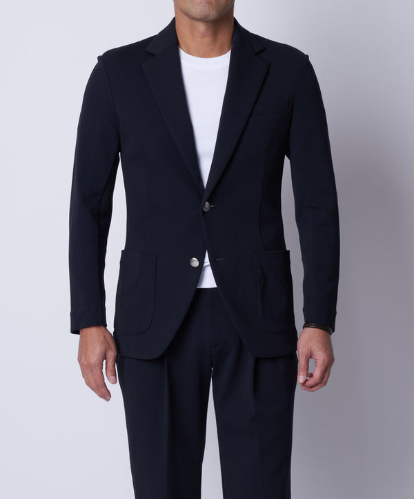 TM-4677 / Dry Cotton Stretch Cardboard Tailored Jacket