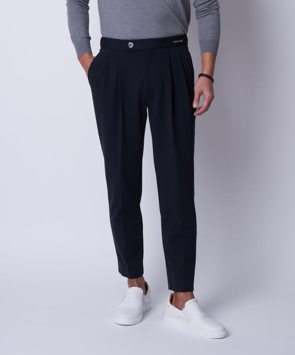TM-6678 / Dry Cotton Stretch Cardboard Relax Tapered Pants