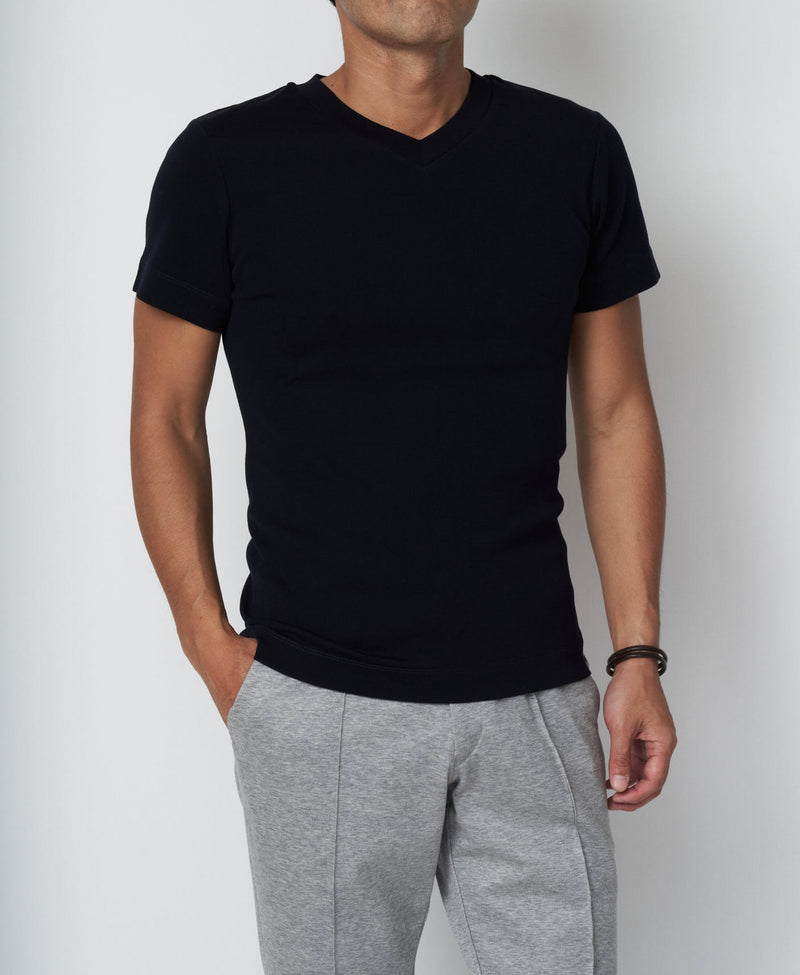 TM-9242 / Tight Milling V-Neck T Shirt