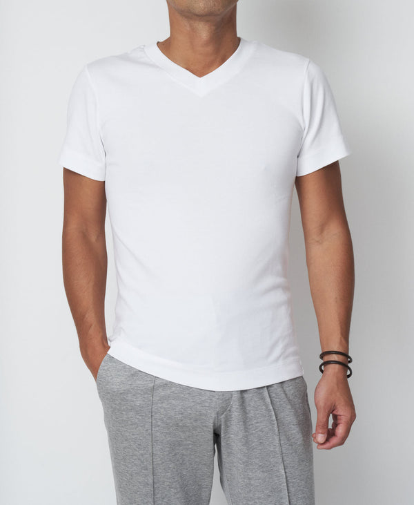 TM-9242 / Tight Milling V-Neck TShirt