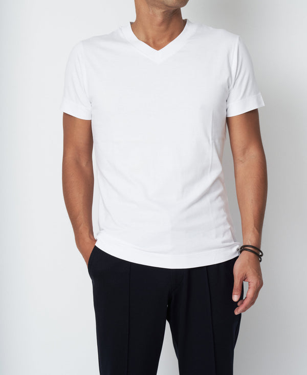 TM-923 / Subin Cotton V-Neck T Shirt