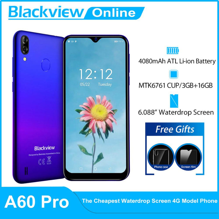 A60 Pro 3GB+16GB Android 9.0 Face ID 4G Mobile phone