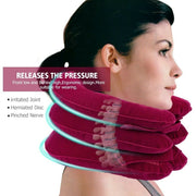 3Layer Neck Traction Inflatable Air Cervical Neck Pillow
