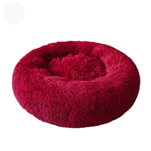 40-100CM Sleep Soft Cat Dog Bed Warm Round Kennel Comfortable Calm Pet Bed Small Medium Large Dog Cushion Mat Washable House