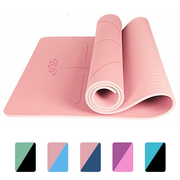 1830*610*6mm EVA Yoga Mat with Position Line Non Slip Carpet Mat