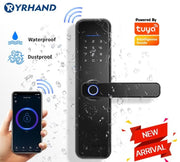 New X5  Waterproof Tuya Biometric Fingerprint Lock, Security Intelligent Smart Lock With WiFi APP Password RFID Door Lock