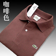 Men Summer Polo Shirt Brand Fashion Cotton Short Sleeve Polo Crocodile Shirts Male Solid Jersey Breathable Tops Tees 5566