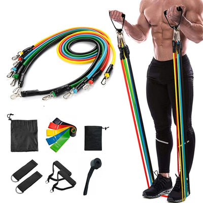17Pcs/Set Latex Resistance Bands Yoga Pull Rope Expander