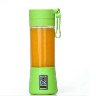 USB Juicer-Cup, Fruit Mixing Machine, Portable Personal Size Eletric Rechargeable Mixer, Blender, Water Bottle 380ml with USB