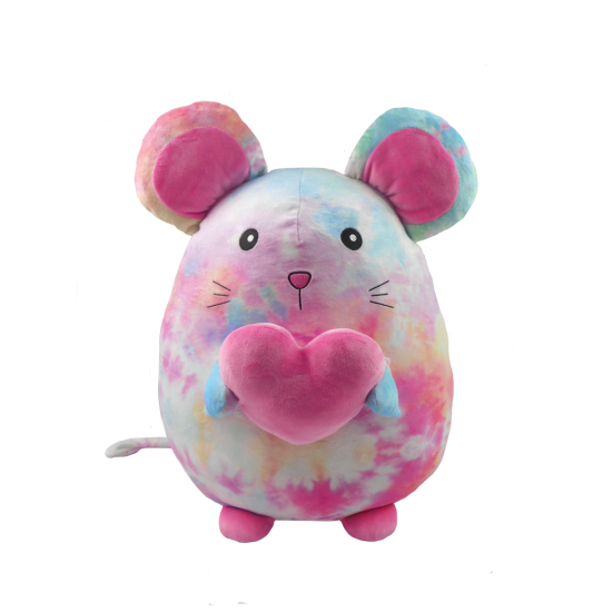 Cotton Candy Heart Tie Dye Mouse