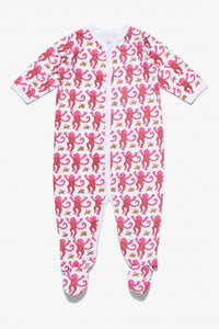Pink Monkey Footie