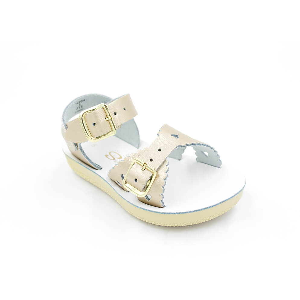 Gold Sweetheart Sandals