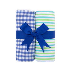Sets of 2 Fabric Burps - Assorted
