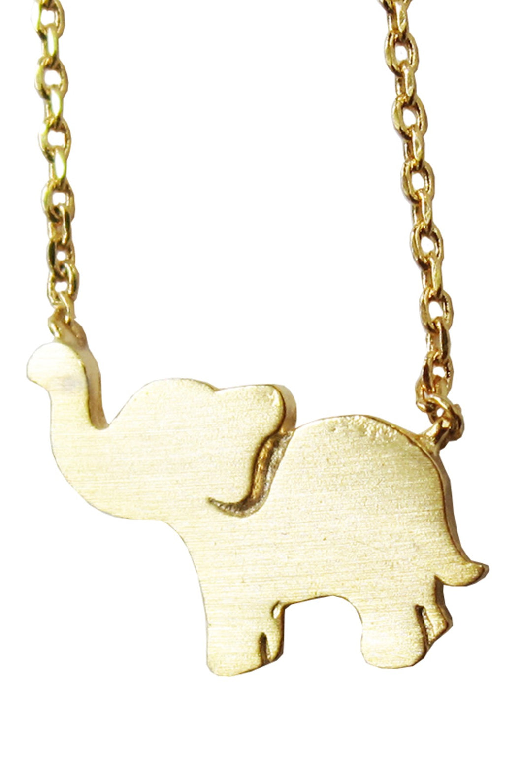 Gold Elephant Luck Necklace