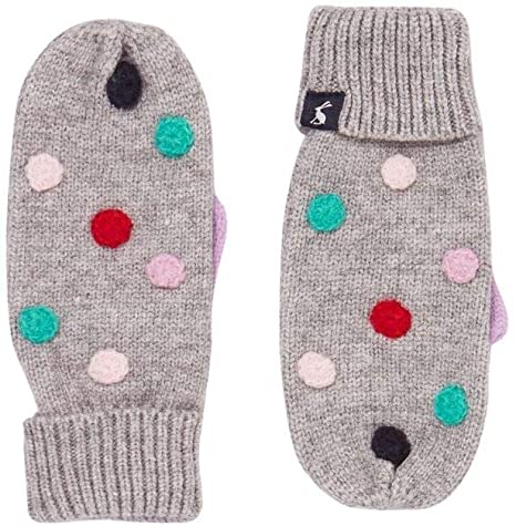 Gray Marl Caldwell Luxe Pom Pom Mittens