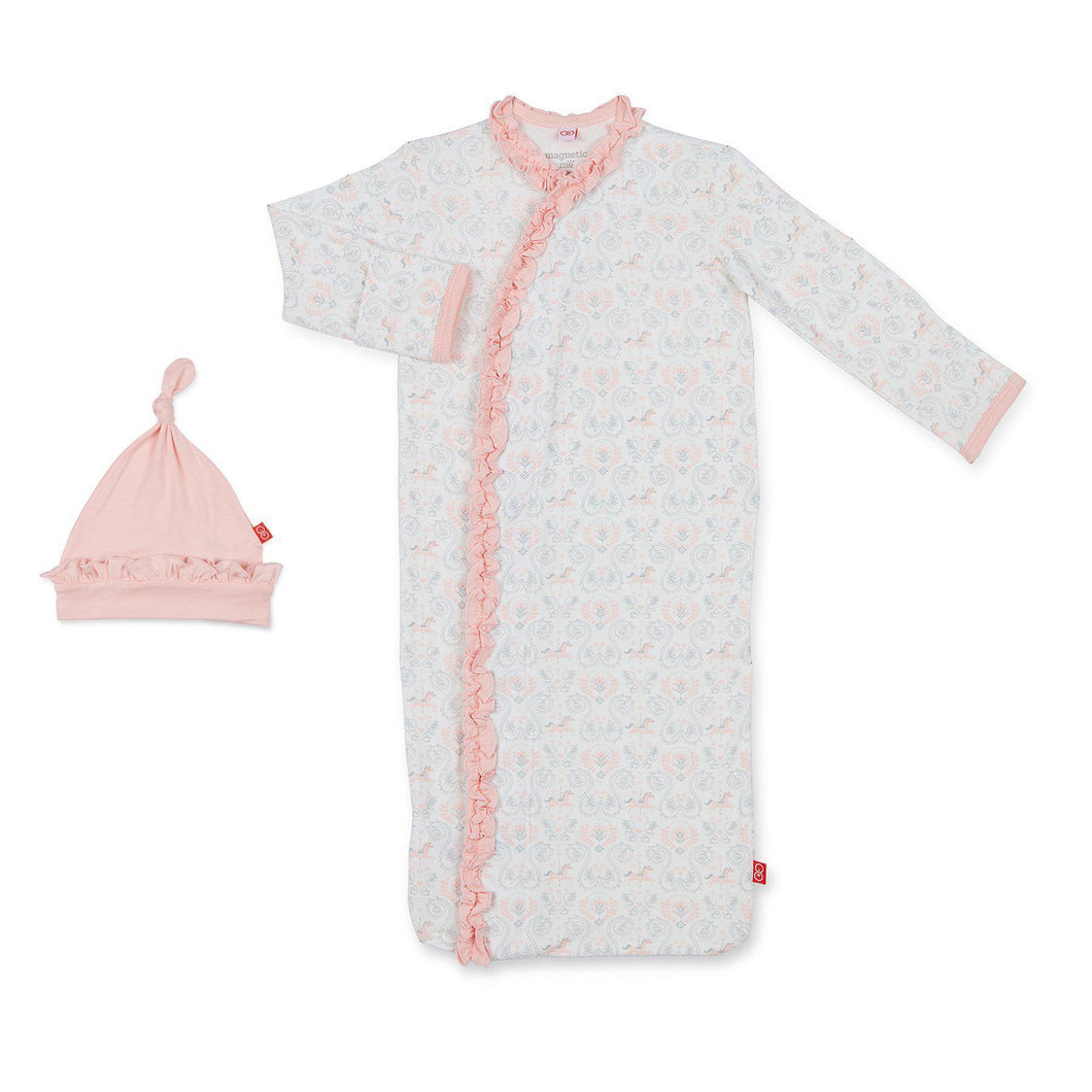 Pink Carousel Modal Magnetic Gown & Hat