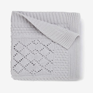 Gray Seed Knit Blanket