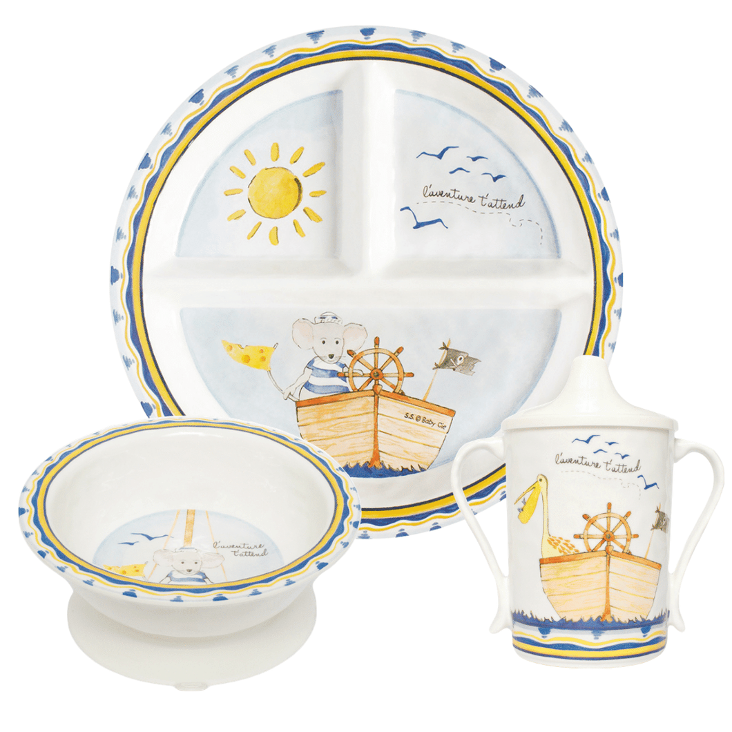 Adventure Awaits 3 Piece Dish Set