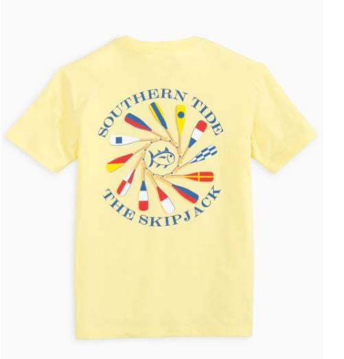 Heather Yellow Oar Spiral Tee