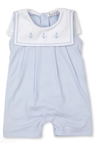 Classic Treasures Blue Sleeveless Playsuit