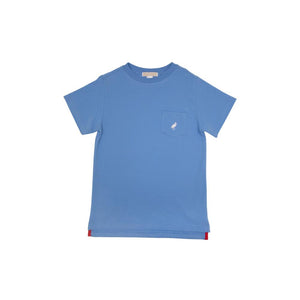 Carter Crewneck - Buckhead Blue With Worth Avenue White Stork