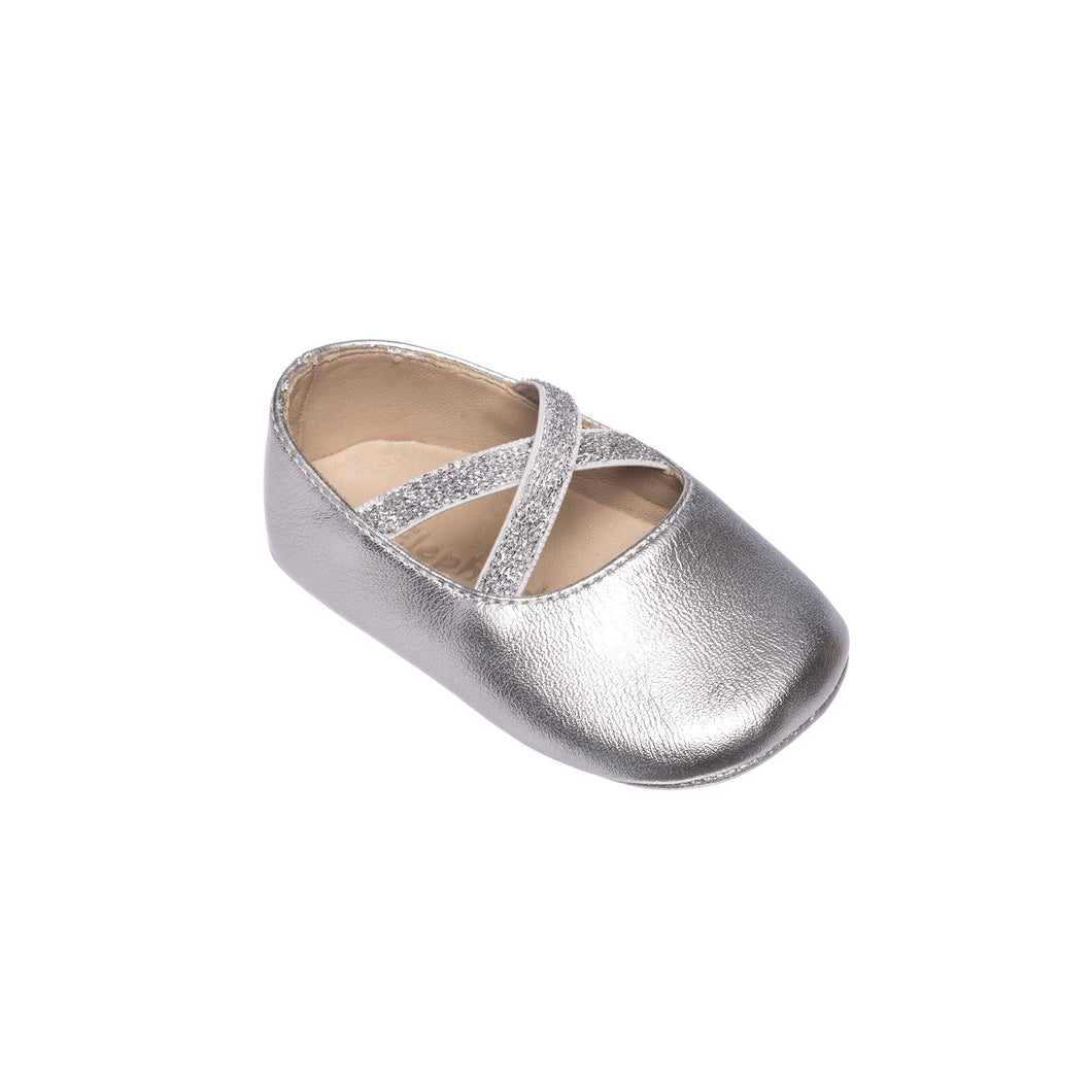 Silver Crossed Ballerina Baby