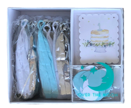 ONE Blue Birthday Banner Kit