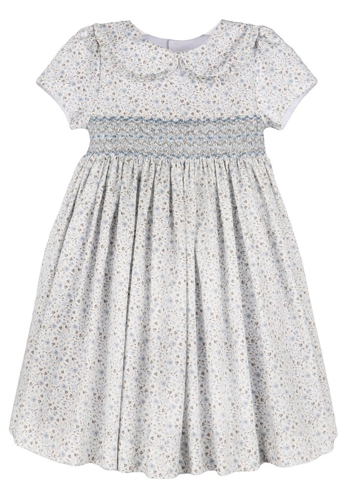 Flower Smocked Embroidered Dress