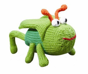 "Gordon The  Grasshopper 5"" Rattle"