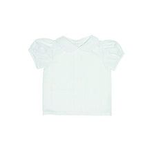 Load image into Gallery viewer, Maude's Peter Pan Collar Short Sleeve Woven Shirt - Worth Avenue White
