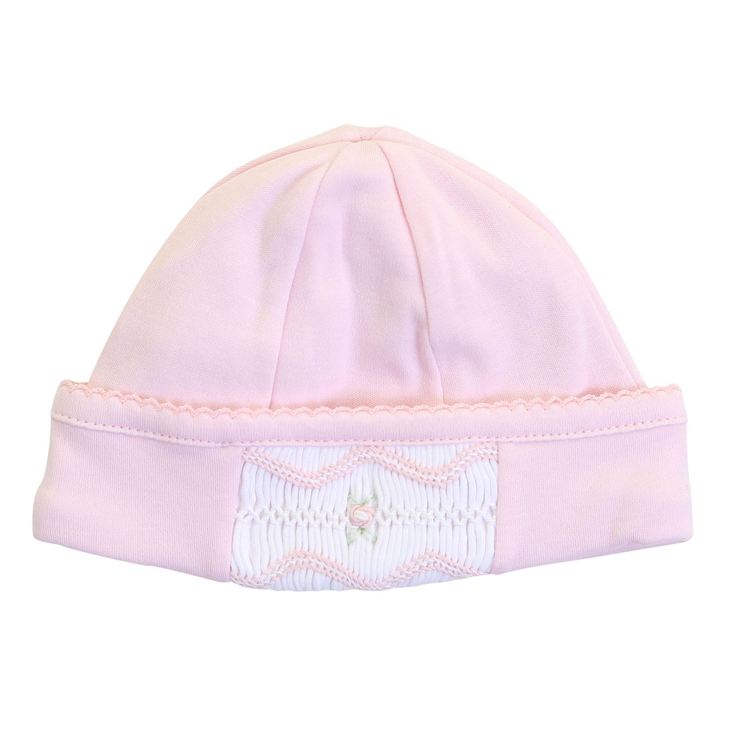 Cora & Cole's Classic Smocked Pink Hat