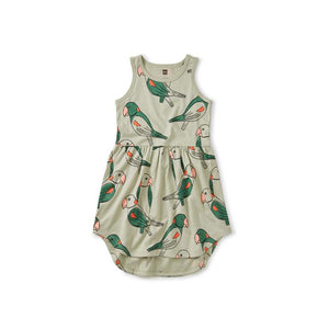 Parakeet Skirted Tank Dress