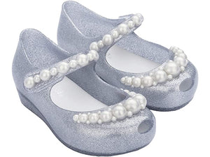 Mini Melissa Ultragirl Girly Silver with Pearls