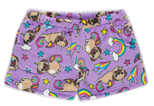 Pugicorn Plush Shorts