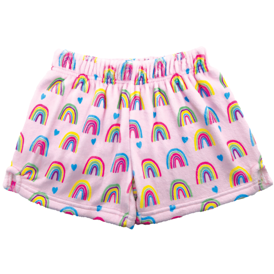 Rainbow Plush Shorts
