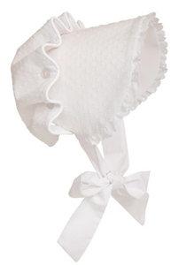 Bellefaire Bonnet White Dixie Dot