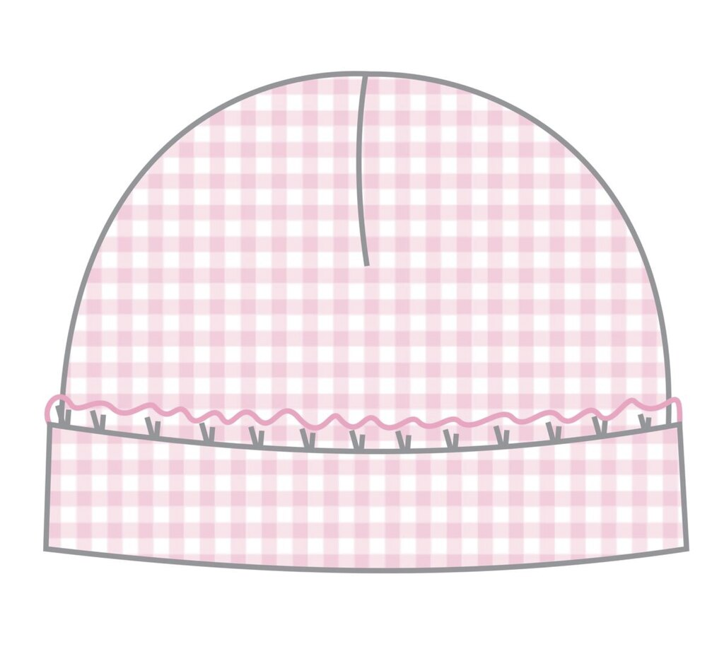 Mia And Ollie's Classic Pink Smocked Hat