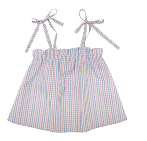 Lainey's Little Top with Natalie Knicker - Sir Plaid Proper with Palm Beach Pink