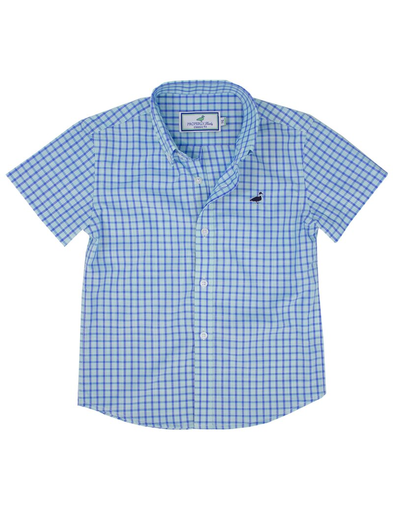 Teal Short Sleeve Sportshirt