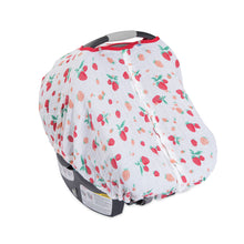 Load image into Gallery viewer, Cotton Muslin Car Seat Canopy - Strawberry