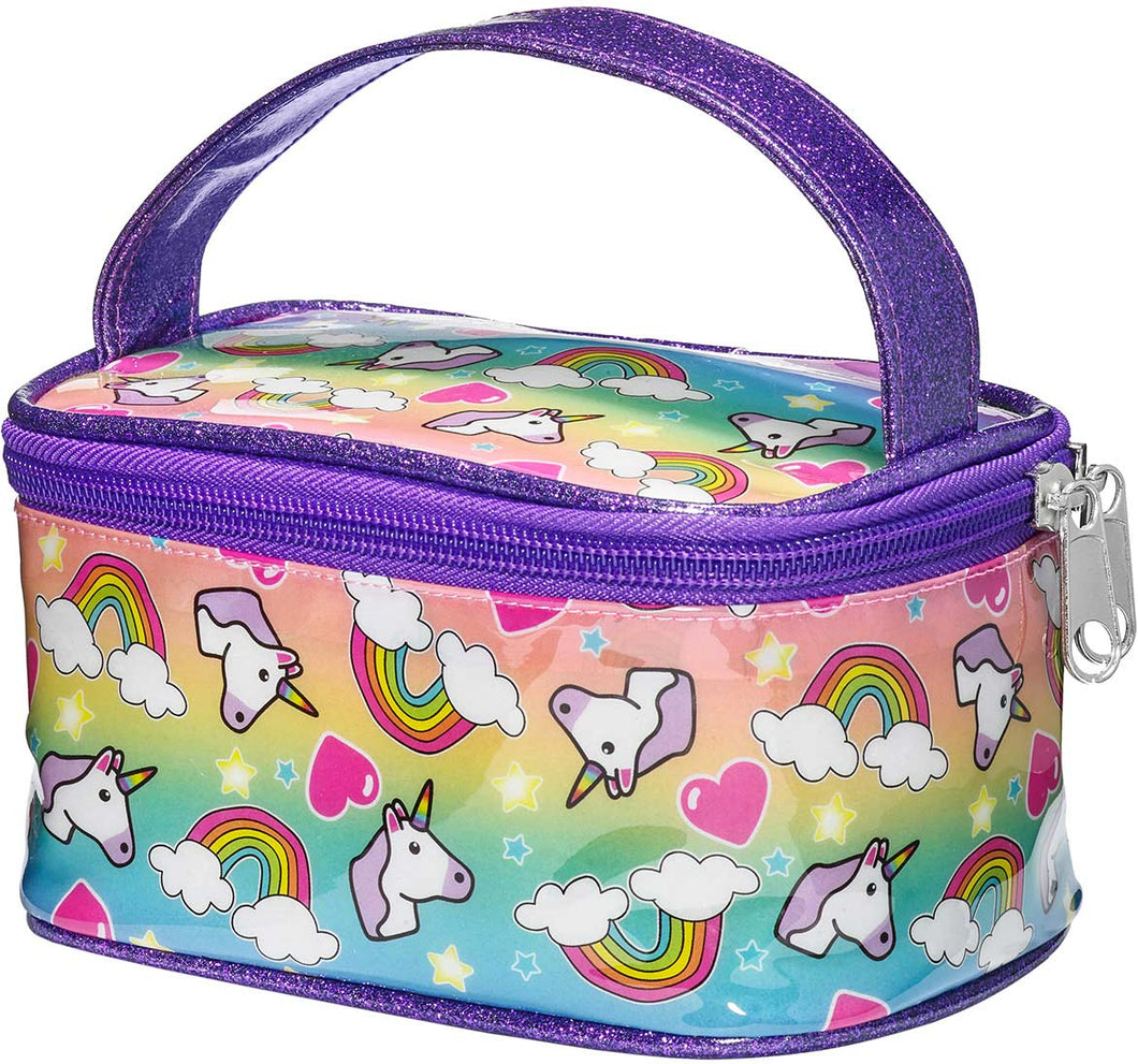 Unicorn & Rainbow Train Case