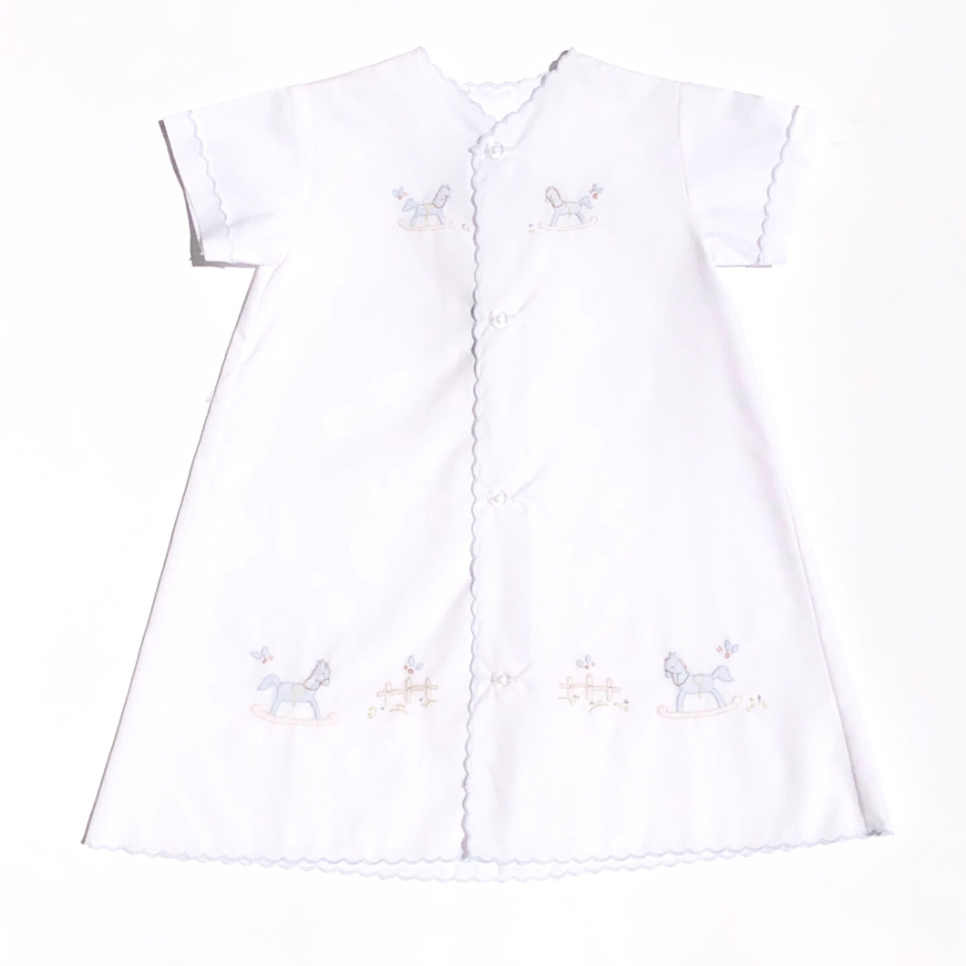 Boys Day Gown with Rocking Horse