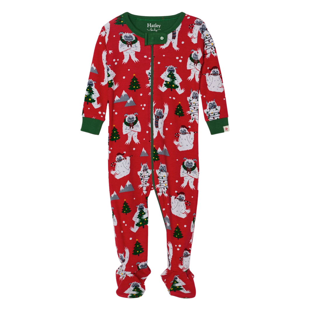 Yuletide Yetis Organic Cotton Footed Coverall