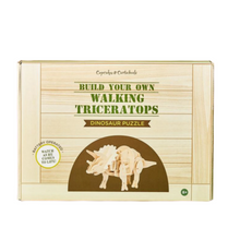 Load image into Gallery viewer, Build Your Own Walking Triceratops Puzzle