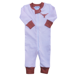 Longhorn Applique Zipped Pajama