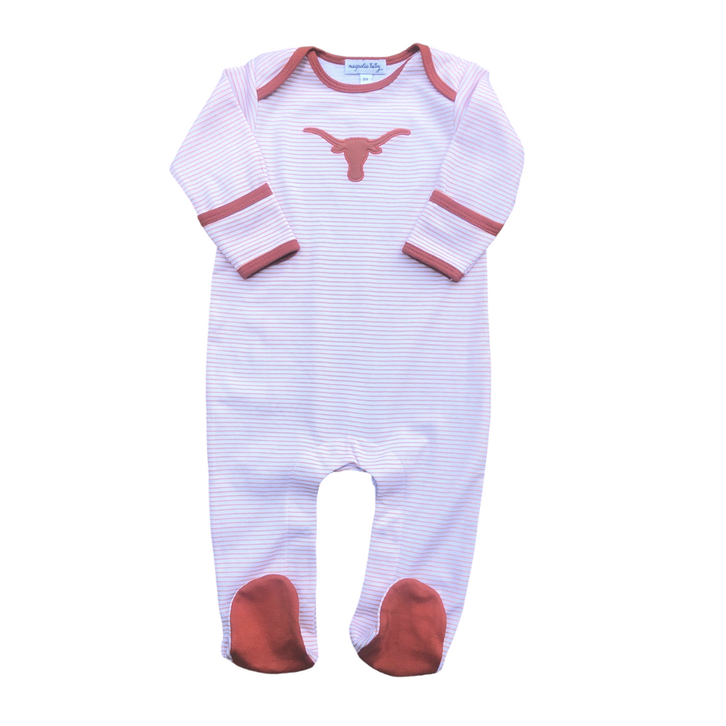 Longhorn Applique Footie