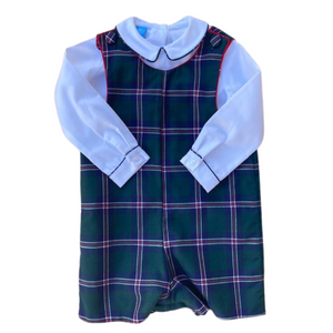 Boys Plaid Jon Jon with Shirt