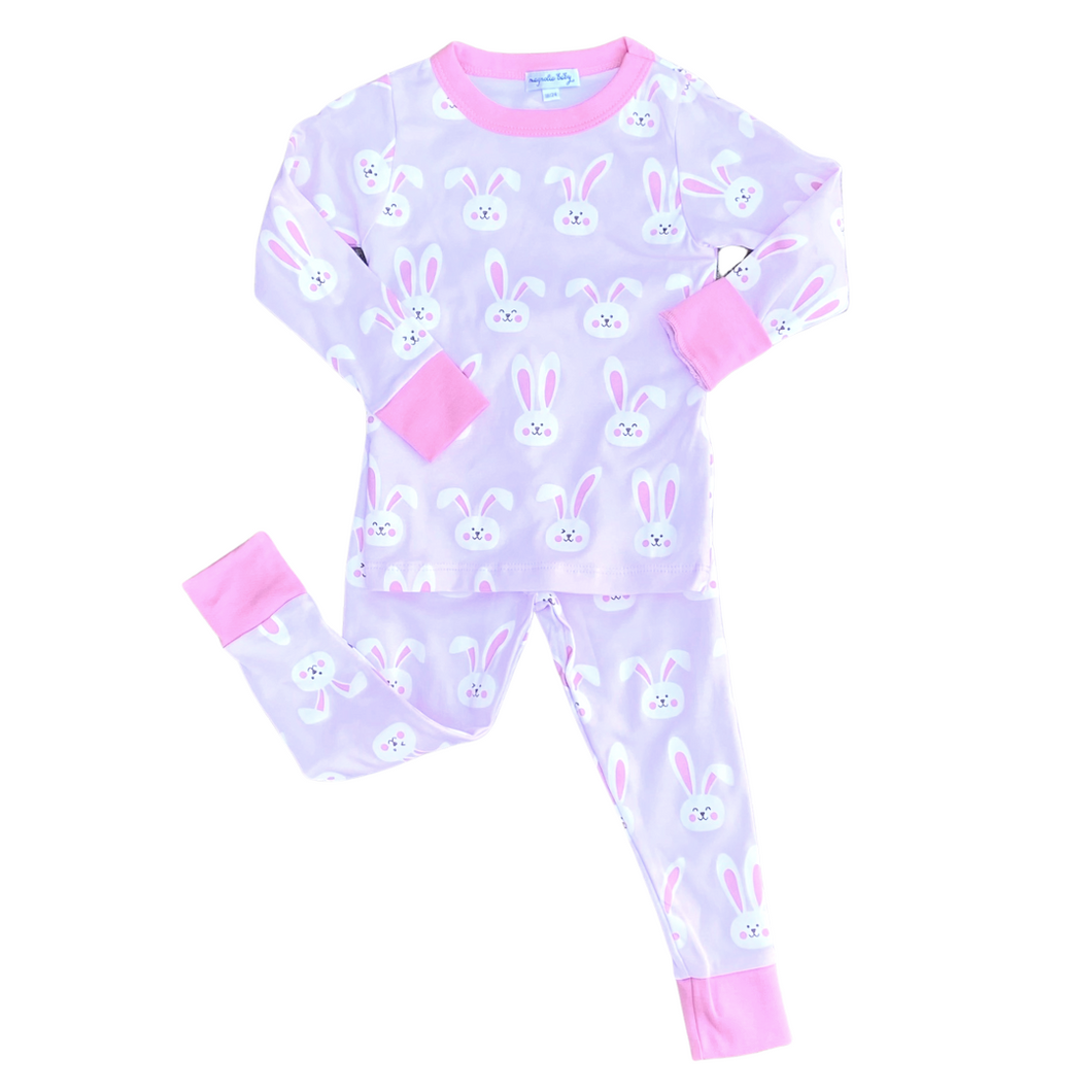 Bunnies Long Sleeve Pajama Set - Pink